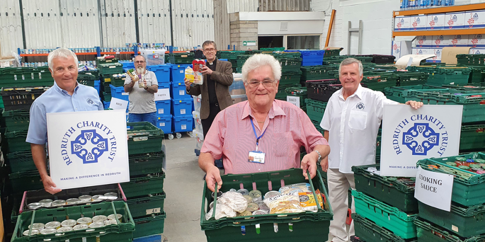 Redruth Charity Trust responds to the community impact of Coronavirus with £1000 Foodbank donation