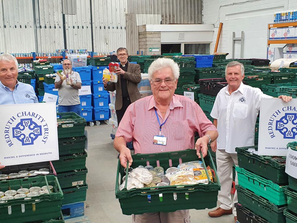 Redruth Charity Trust responds to the community impact of Coronavirus with £1000 Foodbank donation